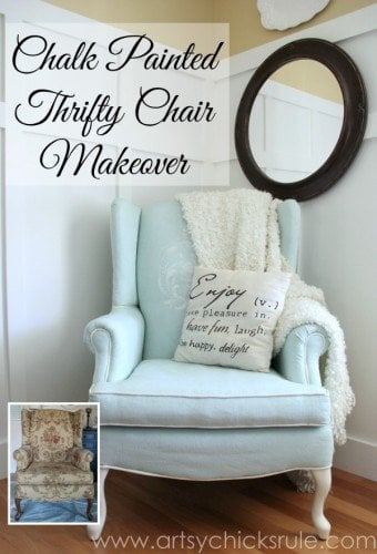 artsychicksrule Chalk-Painted-Upholstered-Chair-Makeover-After-Makeover-artsychicksrule.com-paintedupholstery-chalkpaint-diy-5-600x880