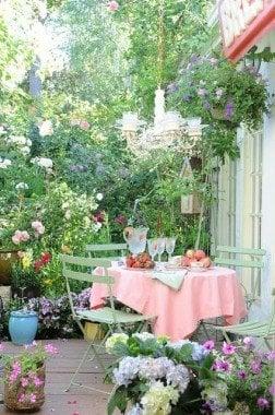 cozy garden party for 4