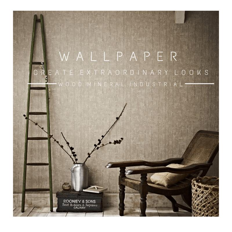 Interior Design Tips Mineral Wood Textured Wallpaper