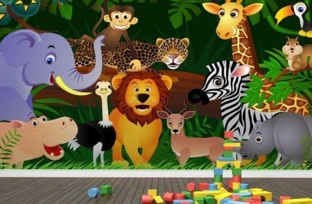 Jungle-Animals-Wallpaper-Mural-Room