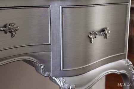 How To Paint Furniture Metallic Silver