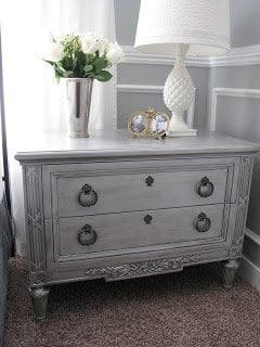 How To Paint Furniture Metallic Silver Paint