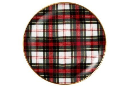 porcelain plaid plates