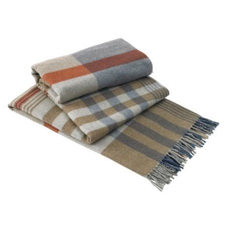 wayfair Lands-Downunder-Italian-Plaid-Lambswool-Throw