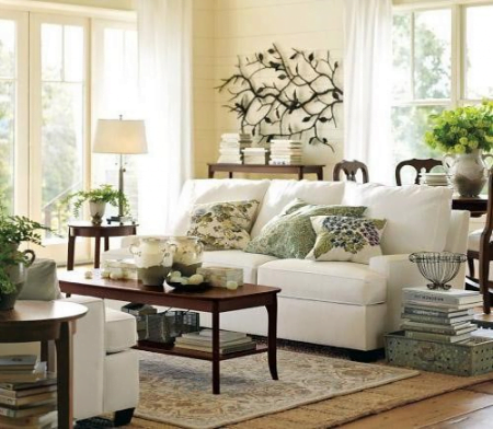 Add traditional rug over sisal, jute or burlap