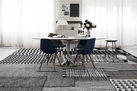 patterned and textured area rugs