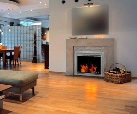 DIY Fake Fireplace, Fireplace Glass Doors, Mantels + more ...