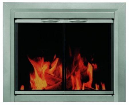 glass fire place doors