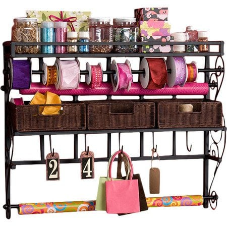 Lynbar+Gift+Wrap+Storage+Rack