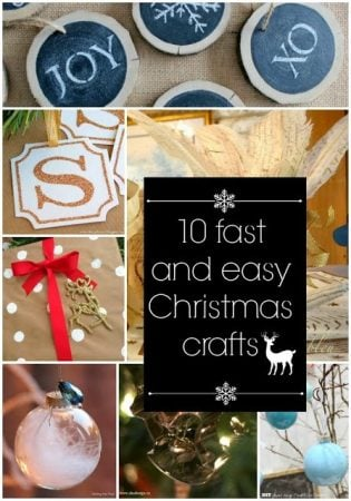 10 Fast and Easy Christmas Crafts