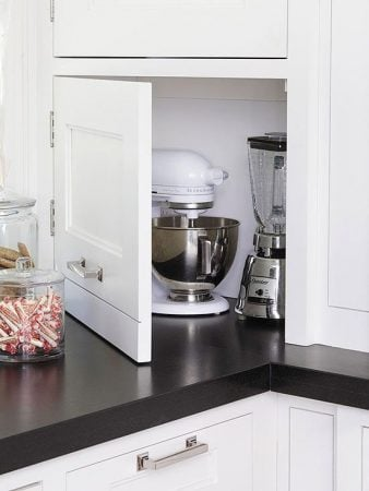 hiding kitchen appliances