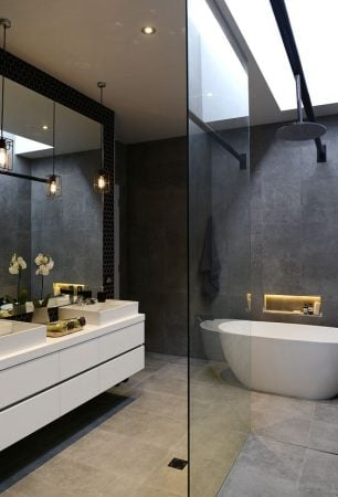 add light with glass bathroom doors