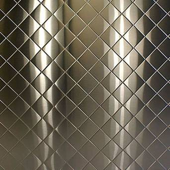 quilted stainless steel sheet