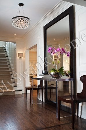 large staircase mirror