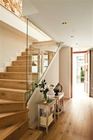 glass staircase sheet railing