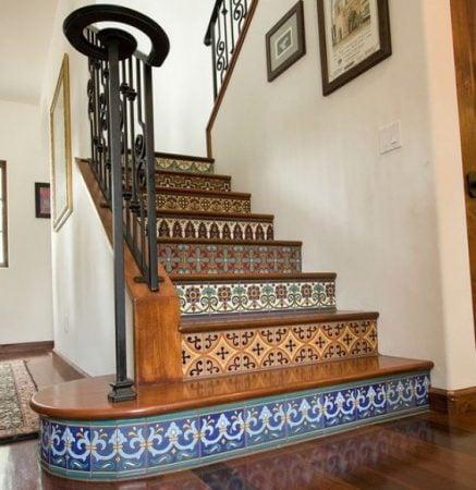 mosaic stair riser