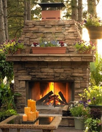outdoor-wood-fireplace