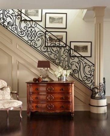 wrough iron staircase