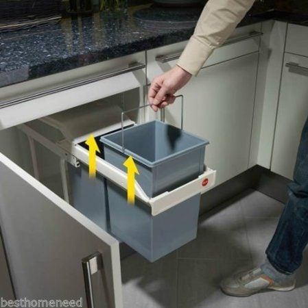 under counter pull out recycler trash can