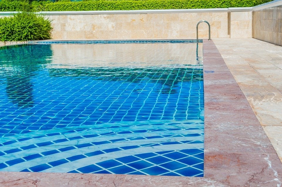 glass tile pool