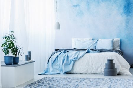 blue is the most calming of bedroom color schemes
