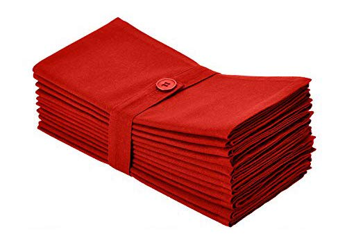 red christmas linen napkins