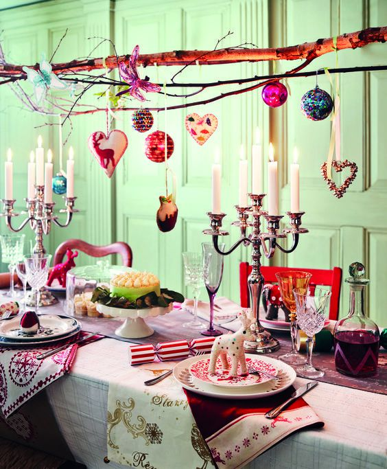 boho chrismas table