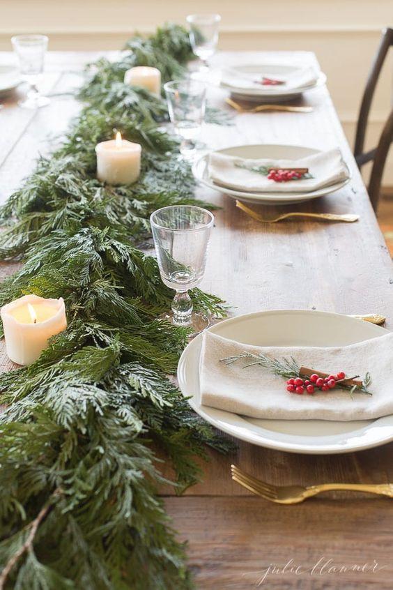 Elegant Christmas Table Decoration You