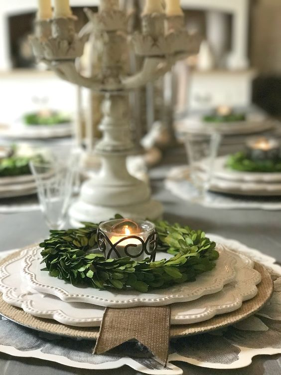 Farmhouse, Rustic, Country Christmas Table Decorations