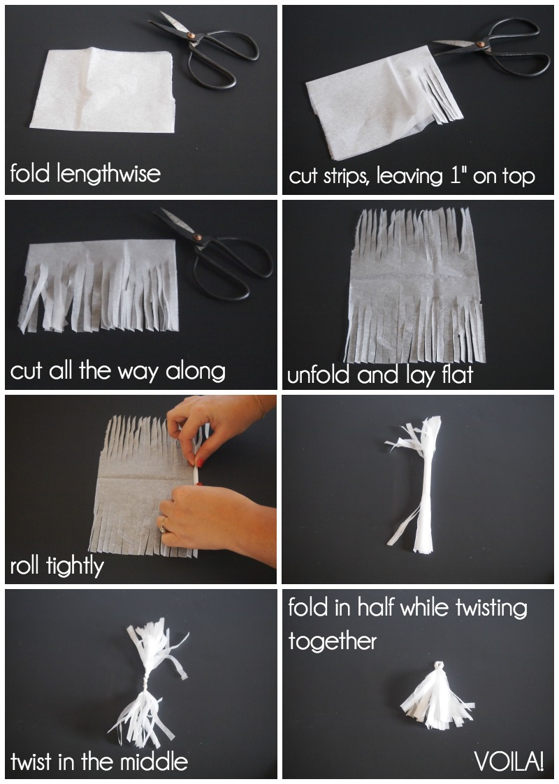 How to make a tissue paper tassel