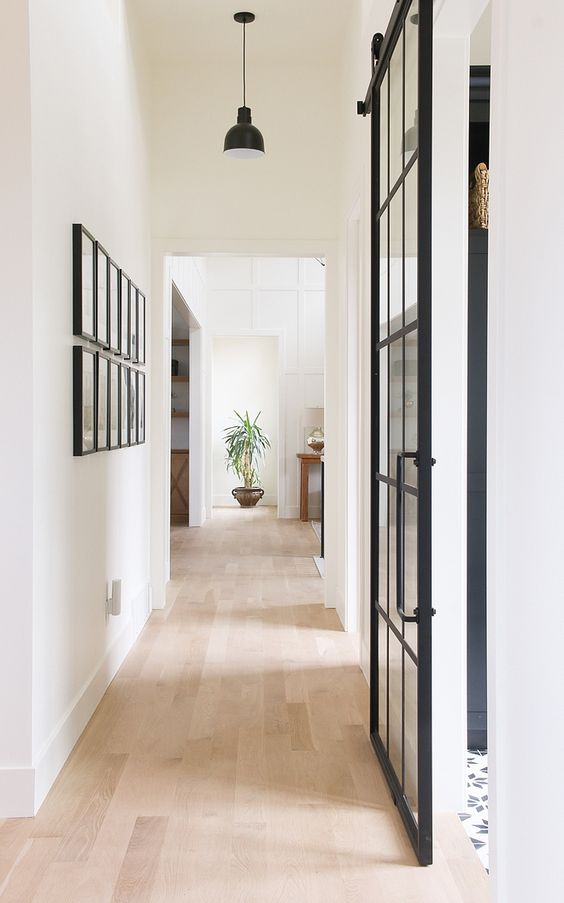 """""""I call the style of our home """"Modern Mountain"""", which is appropriate I think for our mountain setting. I chose finishes in keeping with my love of black, white, and wood. I love simplicity in"""