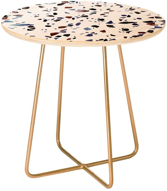 Terrazzo Texture Side Table
