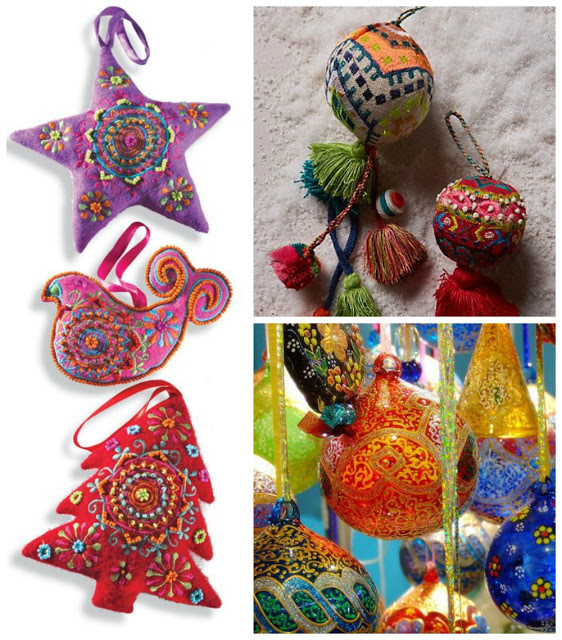 Bohemian Christmas Decoration Inspiration {Colorful non-traditional Christmas Decorations} Hippie Christmas. Boho Christmas. Alternative Christmas tree. Ecclectic Christmas decorations. #bohmemianchristmas #boho #bohemian #gypsystyle #hippie