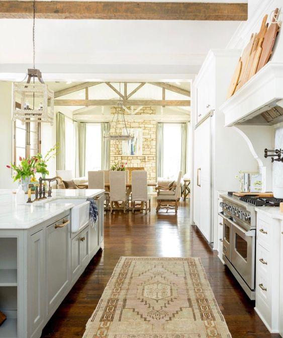 Beautiful kitchen ,classic hanging light