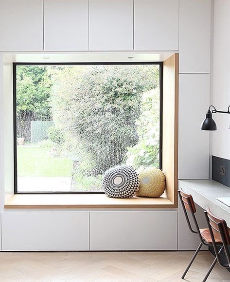 reading nook with a garden view