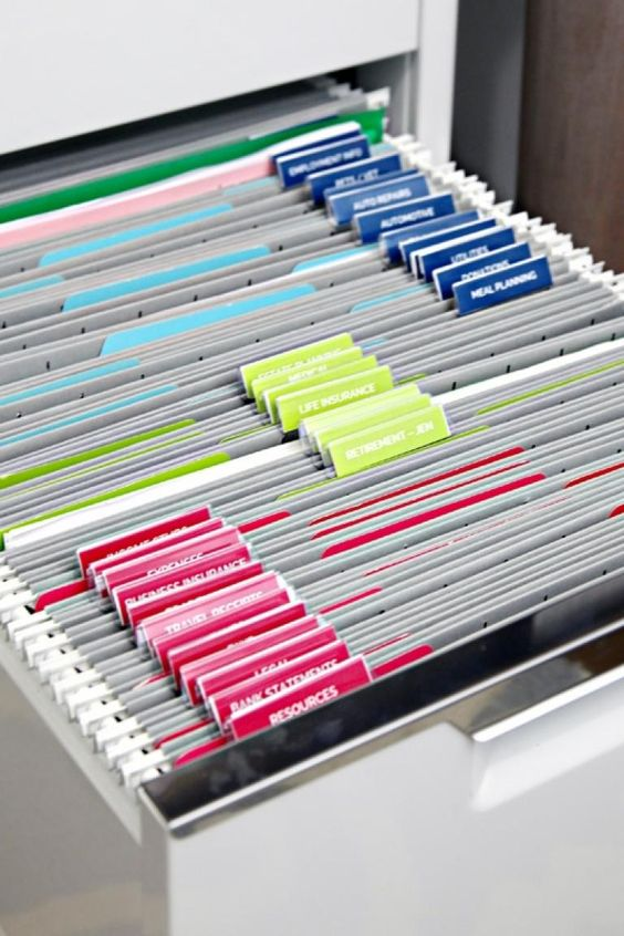 Paper filing Ideas