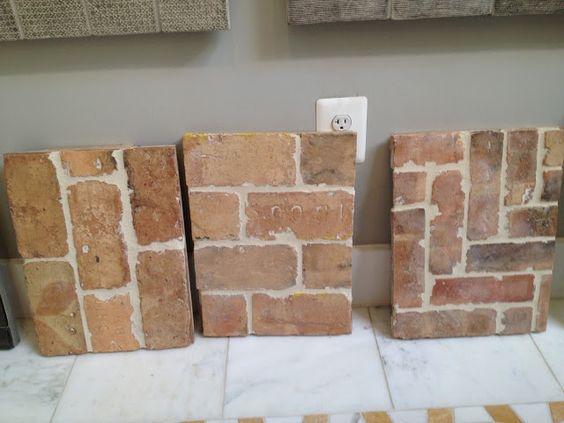 Brick look tiles