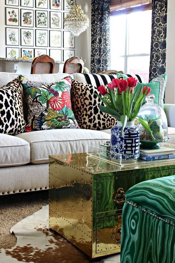 great mix of botanical and animal prints and texrures