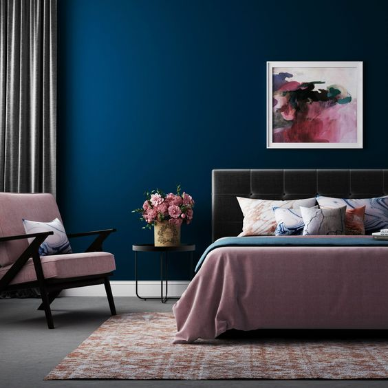 balance your bedroom with shades of blue