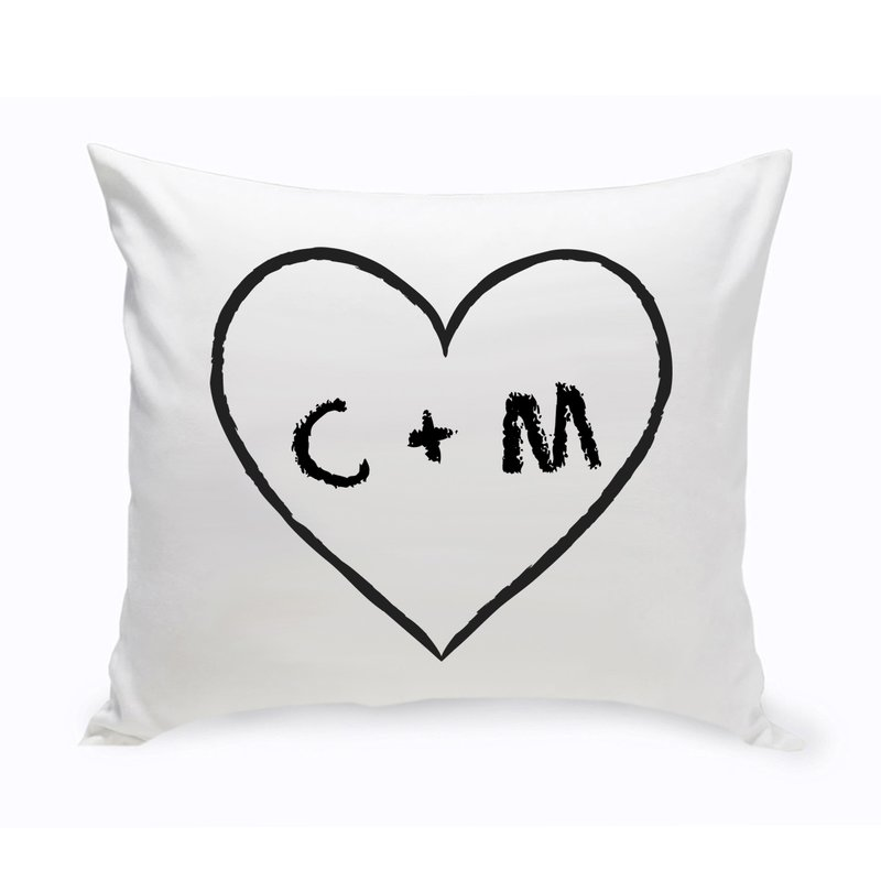 Personalized Unity Heart of Love Cotton Throw Pillow