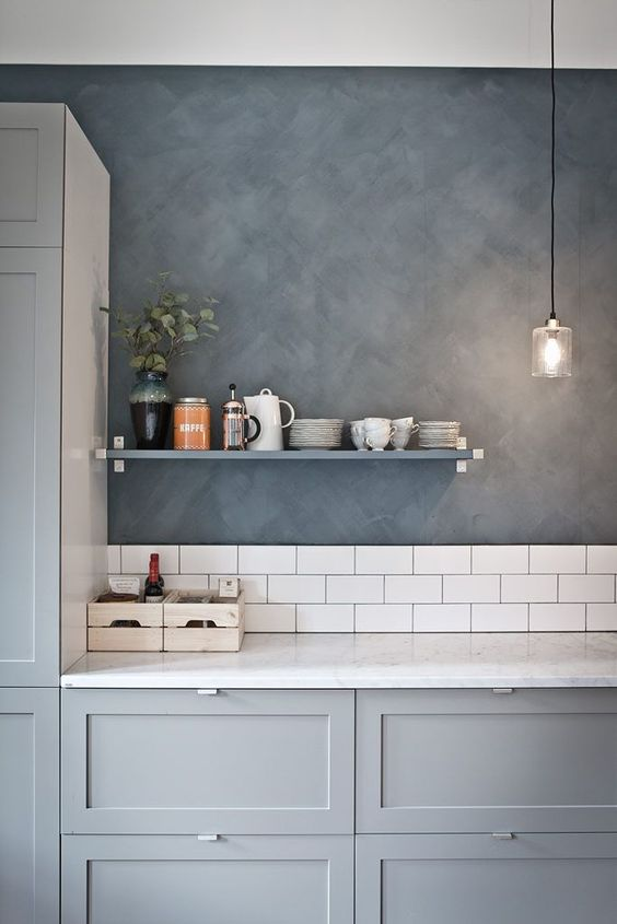 Beautiful, soothing kitchen in grey