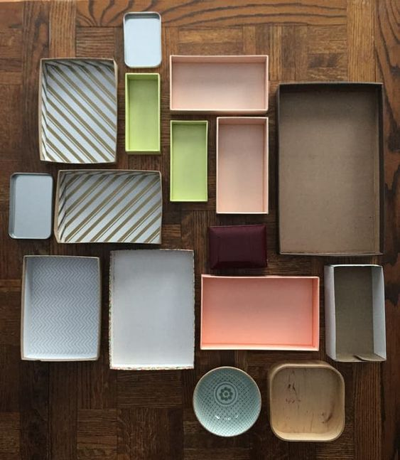use little boxes to organize drawers