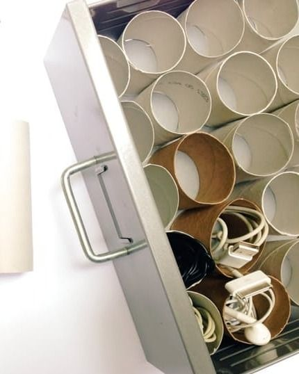 toilet paper rolls for cords