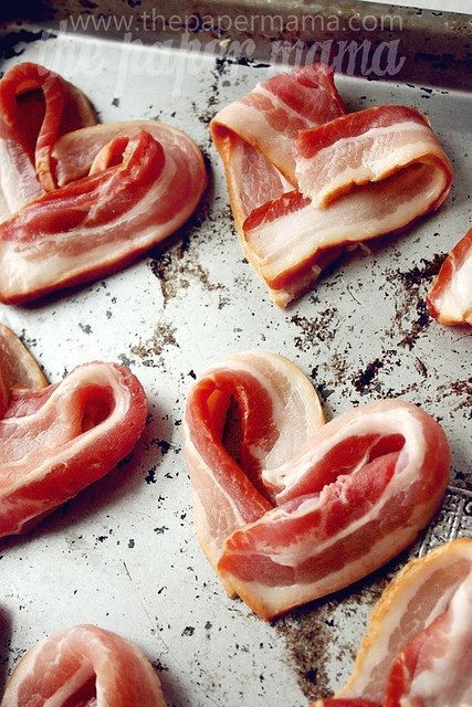 Heart Bacon Do Breakfast In Bed This Valentine