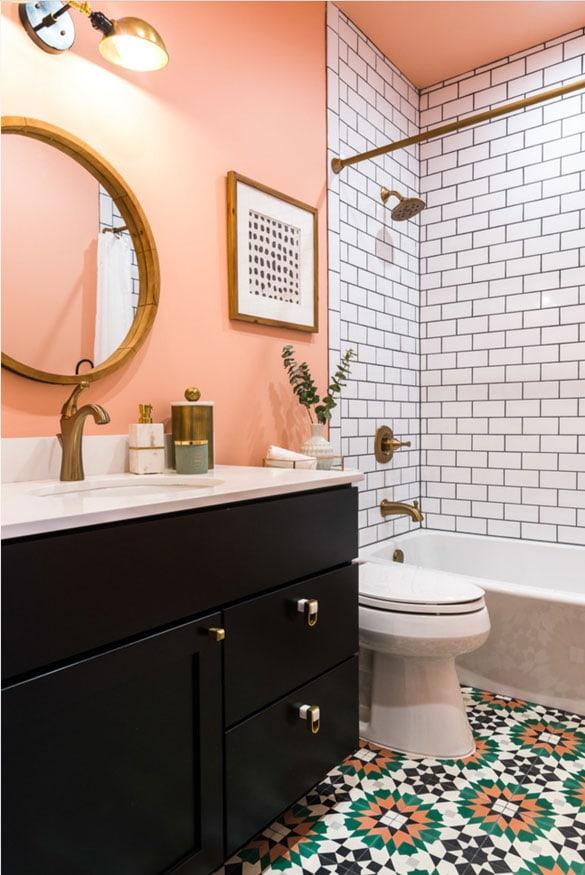 pink bathroom walls