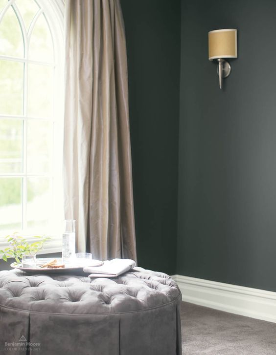 Kendall Charcoal HC-166 from the Benjamin Moore Color Trends 2019
