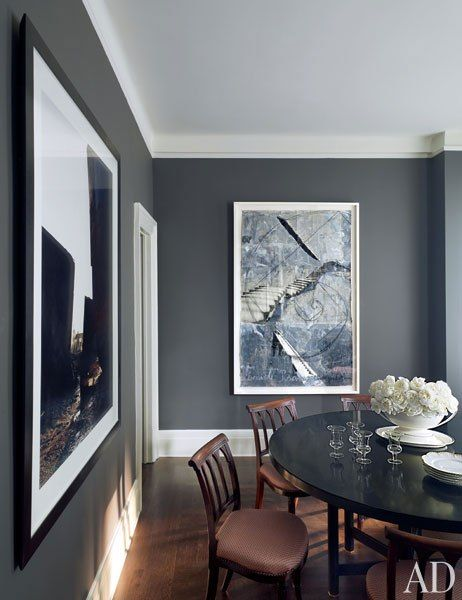 dark walls light baseboards