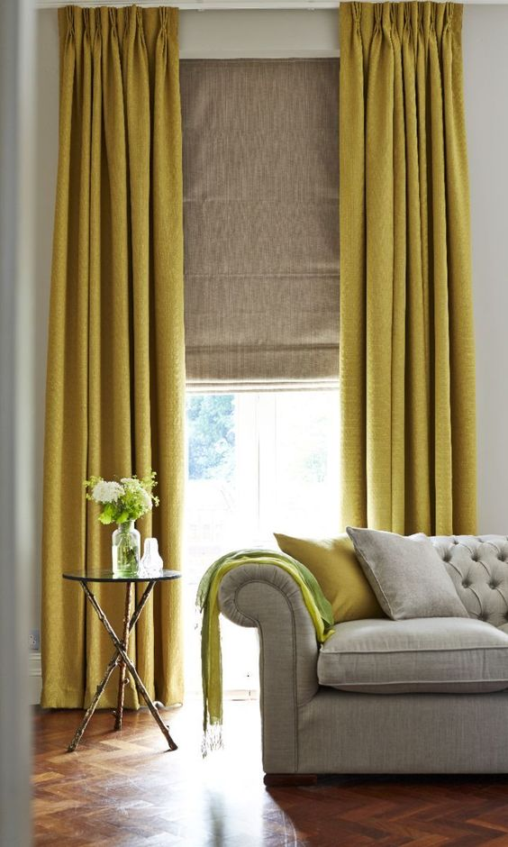rich mustard gold curtains