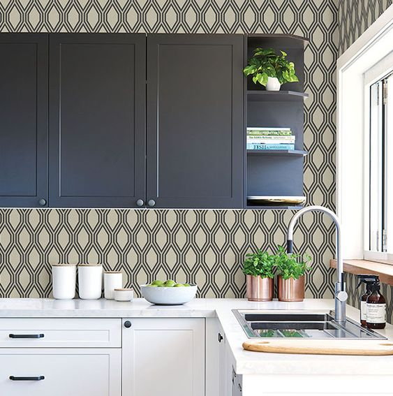 How To Use Kitchen Wallpaper To Update Your Kitchen Decorated Life