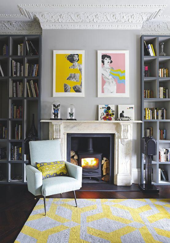 modern pale blue armchair